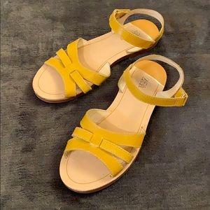 Yellow mustard stylish sandals